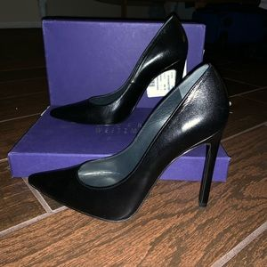 Stuart Weizman Queen Black Pumps